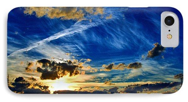 Turbulent Sunset IPhone Case