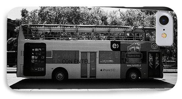turistik open top city bus tours of Santiago Chile IPhone Case by Joe Fox