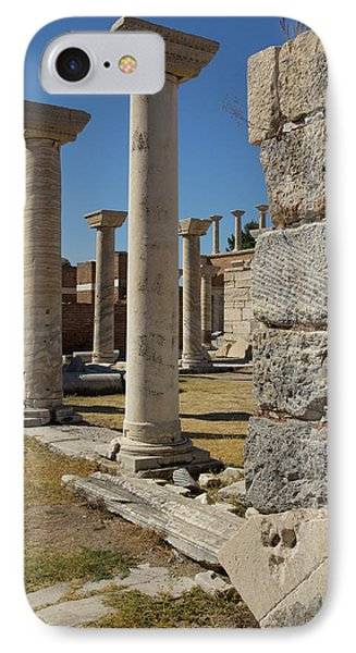 Turkey, Ephesus Ruins Of The Basilica IPhone Case