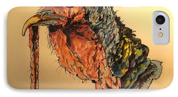 Turkey Head Bird IPhone Case by Juan  Bosco