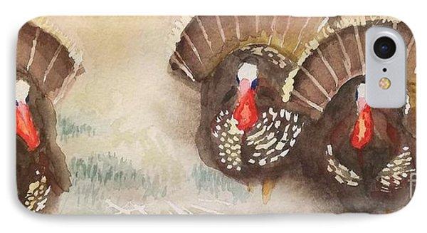 Turkeys IPhone Case by Yoshiko Mishina
