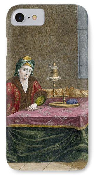 Turkish Woman Spinning Thread, C.1708 IPhone Case