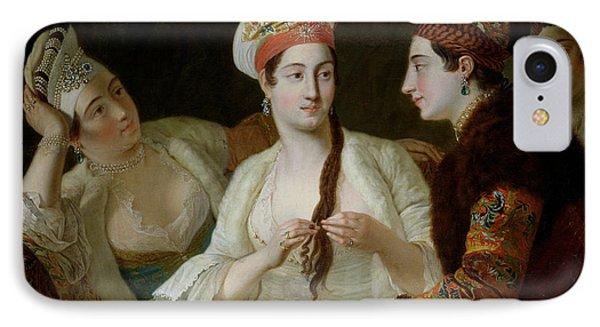 Turkish Women Oil On Canvas IPhone Case