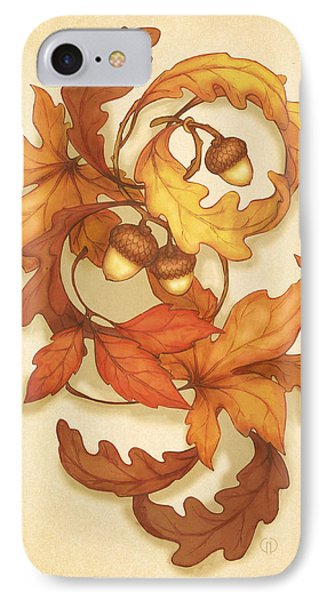 Turning Leaves IPhone Case by Catherine Noel