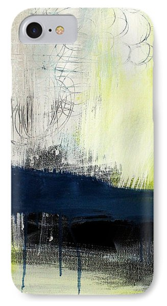 Turning Point - Contemporary Abstract Painting Phone Case by Linda Woods
