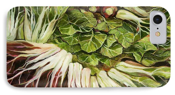 Turnip And Chard Concerto Phone Case by Jen Norton