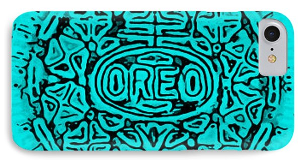 Turquoise Oreo IPhone Case by Rob Hans