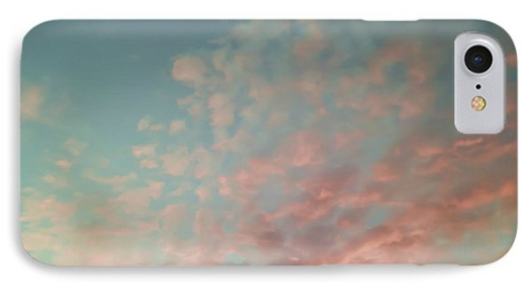 Turquoise And Peach Skies Phone Case by Holly Martin