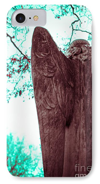 Turquoise Angel Phone Case by Sonja Quintero