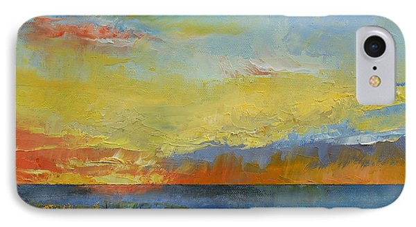 Turquoise Blue Sunset IPhone Case by Michael Creese