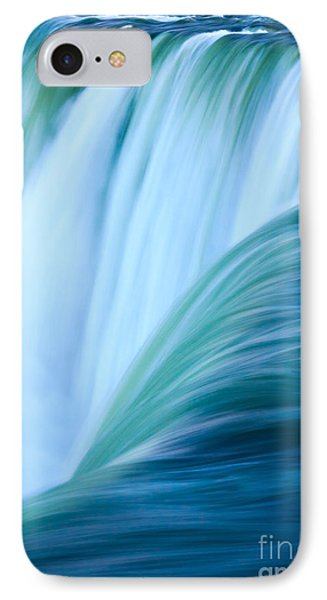 IPhone Case featuring the photograph Turquoise Blue Waterfall by Peta Thames