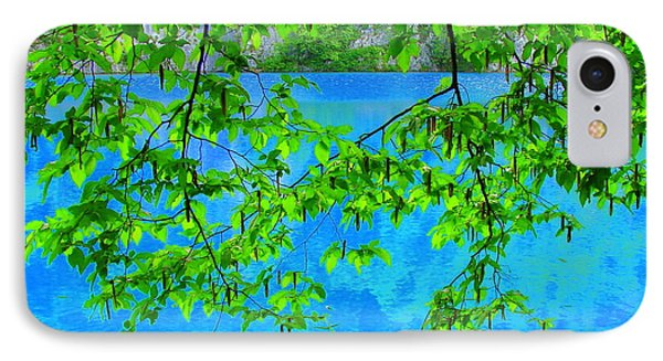 IPhone Case featuring the photograph Turquoise Lake by Ramona Johnston