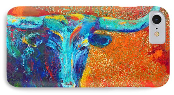 Turquoise Longhorn IPhone Case by Karen Kennedy Chatham