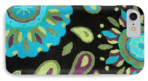 IPhone Case featuring the photograph Tapestry Turquoise Rug by Janette Boyd