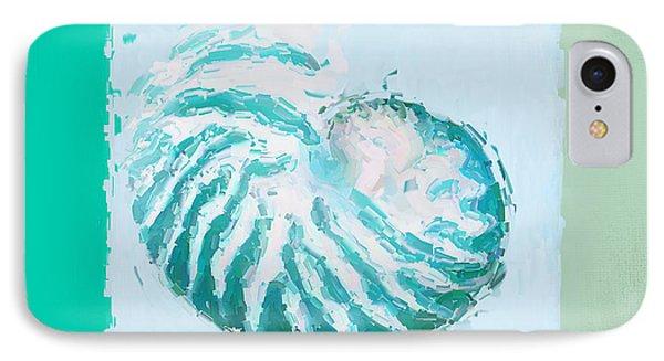 Turquoise Seashells Xii IPhone Case by Lourry Legarde