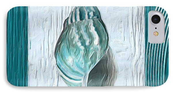 Turquoise Seashells Xx IPhone Case by Lourry Legarde