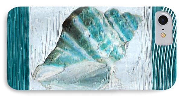 Turquoise Seashells Xxii IPhone Case by Lourry Legarde
