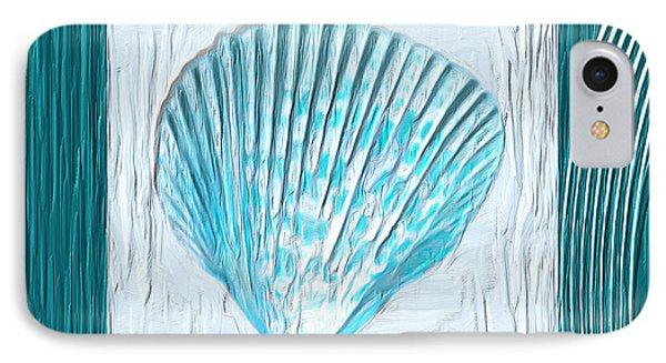 Turquoise Seashells Xxiii IPhone Case by Lourry Legarde