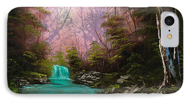 Turquoise Waterfall IPhone Case by C Steele