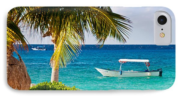 IPhone Case featuring the photograph Turquoise Waters In Cozumel by Mitchell R Grosky