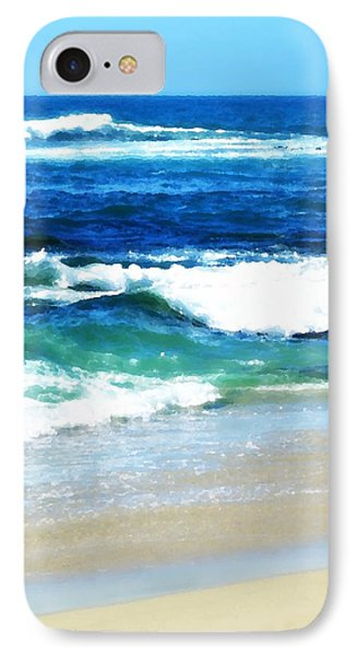 Turquoise Waves... IPhone Case by Sharon Soberon