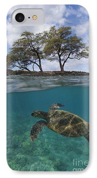 Turtle At Makena Landing IPhone Case
