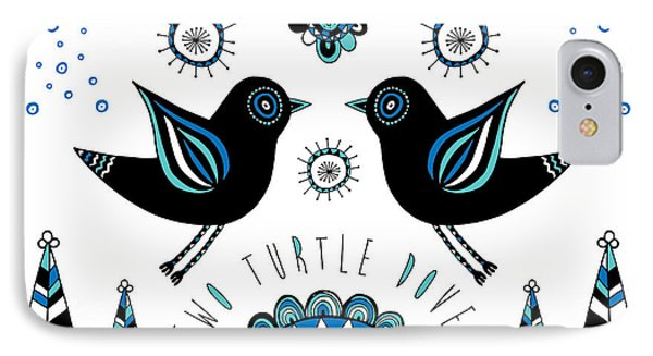 Turtle Dove IPhone Case by Susan Claire