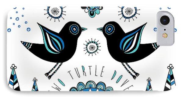 Turtle Dove Phone Case by Susan Claire