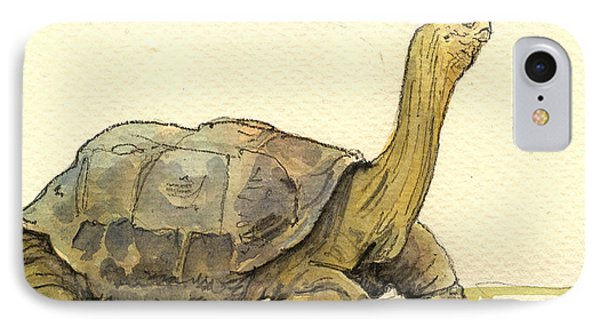 Turtle Galapagos IPhone Case by Juan  Bosco