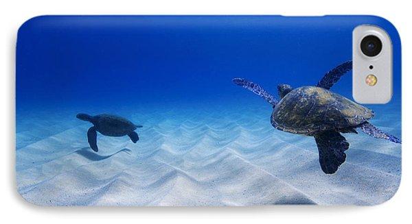 Turtle Pair IPhone Case by Sean Davey