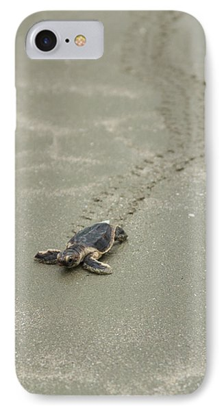 IPhone Case featuring the photograph Turtle Tracks by Patricia Schaefer