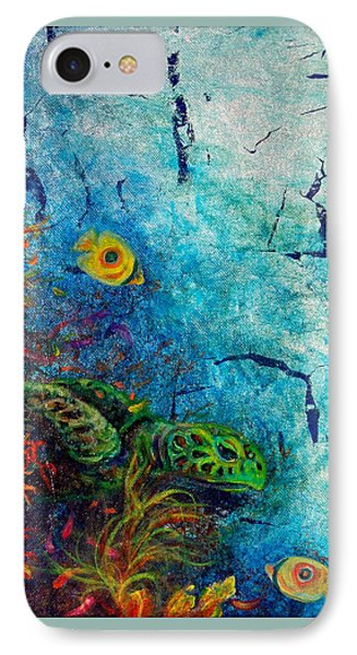 Turtle Wall 1 IPhone Case by Ashley Kujan