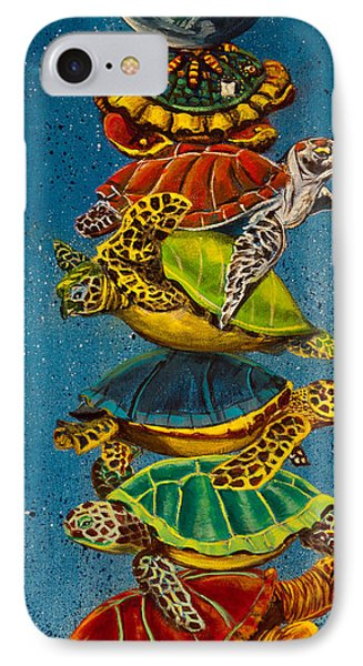 Turtles All The Way Down IPhone Case by Susan Culver
