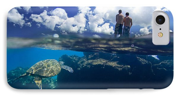 Turtles View IPhone Case by Sean Davey