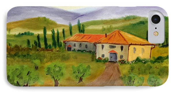 Tuscan Cottage IPhone Case by Larry Hamilton