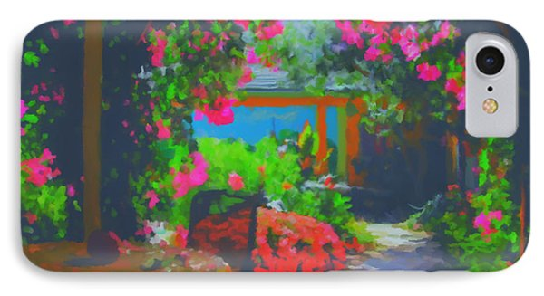 IPhone Case featuring the painting Tuscan Courtyard by Tim Gilliland