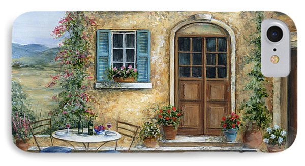 Tuscan Courtyard With Cat IPhone Case by Marilyn Dunlap