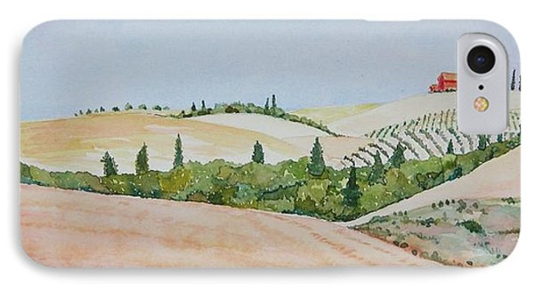 Tuscan Hillside One IPhone Case by Mary Ellen Mueller Legault