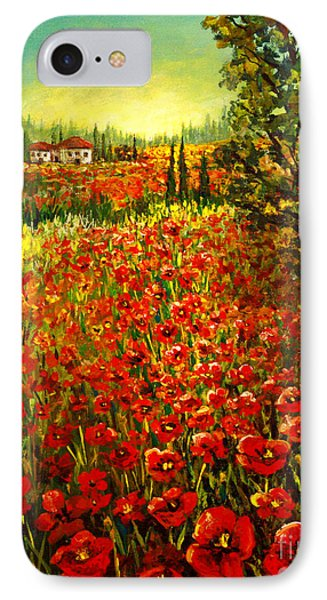 Tuscan Poppies IPhone Case by Lou Ann Bagnall