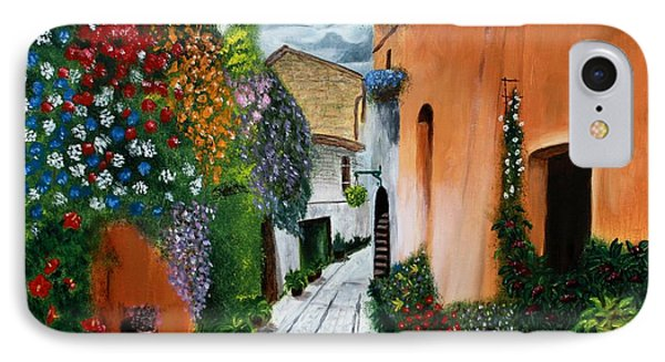 Tuscan Street Scene IPhone Case by Bev Conover