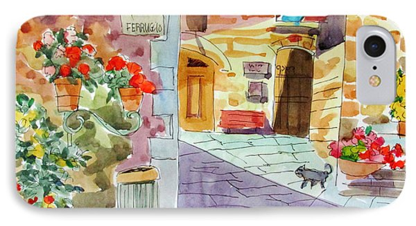 Tuscan Street Scene IPhone Case by Linda Novick