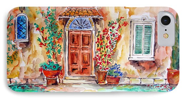 Tuscan Villa Door Water Color IPhone Case