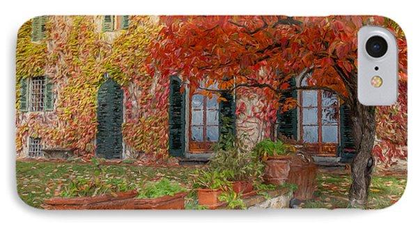 Tuscan Villa In Autumn IPhone Case