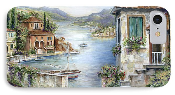 Tuscan Villas By The Lake IPhone Case by Marilyn Dunlap