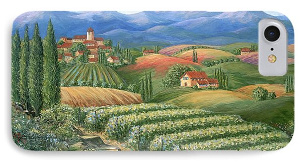 Tuscan Vineyard And Village  IPhone Case by Marilyn Dunlap