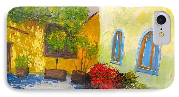Tuscany Courtyard 2 Phone Case by Pamela  Meredith