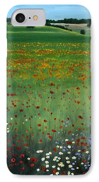 Tuscany Flower Field Phone Case by Cecilia Brendel