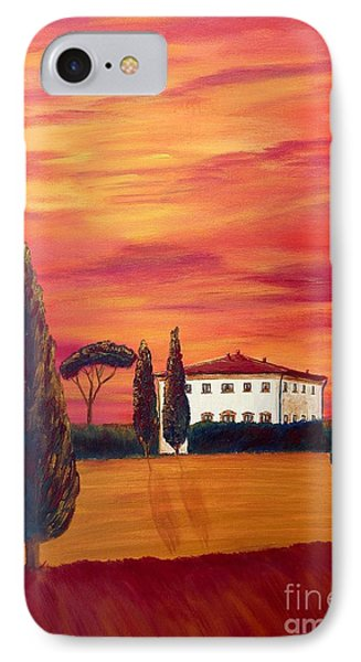 Tuscany In Red Phone Case by Christine Huwer