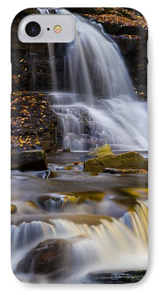 Tuscarora Falls At Ricketts Glen In Autumn IPhone Case by Jetson Nguyen