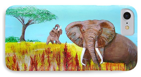 Tusks2 IPhone Case by Donna Dixon